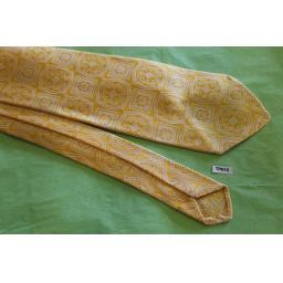 """Superb Vintage 1940s/50s Rhodia Italia Jacquard Tie 3"""" Gold & cream"""
