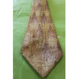 "Superb Vintage 1940s/50s Resisto Sterling Ivory, Mauve & Brown Tie 4.5"" Wide Lindyhop/Swing/Zoot Suit/Rat Pack"