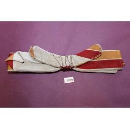 Vintage Western Cowboy Burgundy Mustard & Grey Skinny Arrow End Clip On Bow Tie