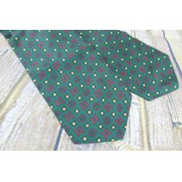 Vintage Tootal Green Gold Maroon Cravat Retro Mod