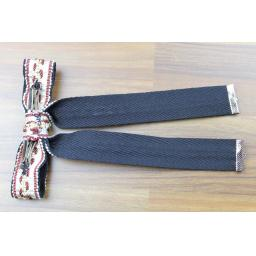 Vintage Style New Black & Heavy Decorated Braid Clip On Western/Cowboy/Kentucky Bow Tie