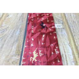 "Superb Vintage 1940s/1950s Rothschild Pure Silk Burgundy Unicorn Tie 4"" Wide Lindyhop/Swing Zoot Suit Rat Pack"