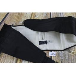 Vintage Black Acko Pleated Adjustable Elasticated Cummerbund