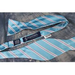 Superb Stafford Broad Stripe Purple & Blue Self Tie Square End Thistle Bow Tie