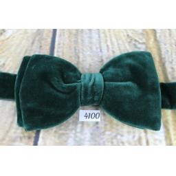 Vintage 1970s Jade Green Velvet Pre-Tied Bow Tie One Size Fits All