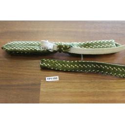 Vintage Pretied Elasticated Bowtie Wide & Skinny Western Green Tweed