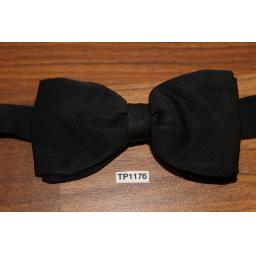 Vintage Akco Classic Black Pre-Tied Bow Tie One Size Fits All