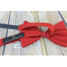 Vintage 1970s Large, Red, Pre-tied Adjustable Bow Tie