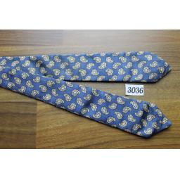 Vintage English Eckerle Paisley Self Tie Skinny Arrow End Bow Tie