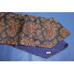 Vintage Navy/Burgundy Paisley Cravat Retro Mod
