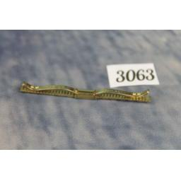 Vintage Hadley Gold Metal Collar Bar Clip Holder