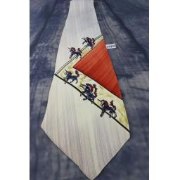 Vintage 1940s 1950s Tie  Brent Hand Painted in California Unicorn Swing/Zoot Suit