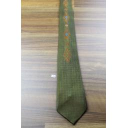 Vintage 1960s Tootal Olive Copper & Blue Tie Narrow/Skinny Jim/Rat Pack/Deco Style Mod Sta Prest