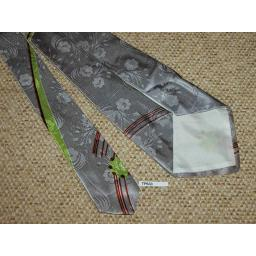 "Superb Vintage 1940s/50s Silver Tie 4.5"" Lindyhop/Swing/Zoot Suit/Rat Pack"