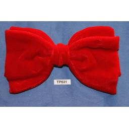 Vintage Pre-Tied Clip On Bow Tie Red Velvet