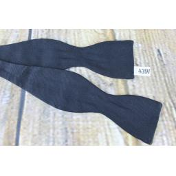 Vintage Trojan Classic Black Self Tie Straight End Thistle Bow Tie