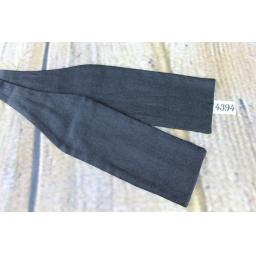 "Vintage Classic Black Self Tie Fixed Length Size 13"" Collar Straight End Paddle Bow Tie"