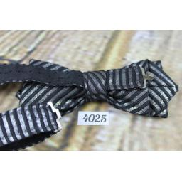 Party bling Black Silver Sparkly Pre-Tied Bow Tie Adjustable