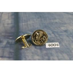 Vintage Large Gold Metal Cufflinks Pegasus