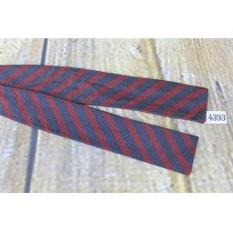 Vintage Manhattan Self Tie Adjustable Straight End Skinny Bow Tie Navy & Burgundy Striped