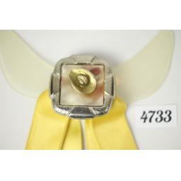 Vintage Lemon Ribbon Cowboy Hat Clip On Western/Cowboy/Kentucky/Square Dance Bow Tie