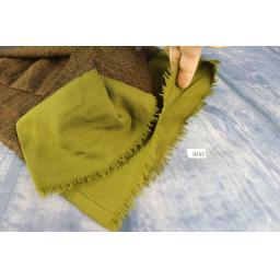 Vintage Mens Moss Green & Brown Squares Patterned Scarf