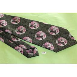 "Vintage Retro Berkley By Tootal 1970's Wide Kipper Tie Black Mauve Jaquard 4"" Wide"