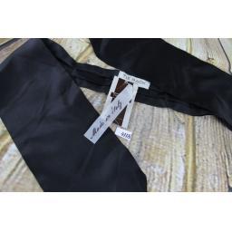 Vintage Tie Rack 100% Silk Classic Black Cravat Retro Mod Unused With Tags Still Attached