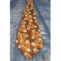 "Superb Vintage William Bros Duratwill 1940s/1950s Brown Tones Geometric Tie 4.25"" Wide Zoot Suit Swing"