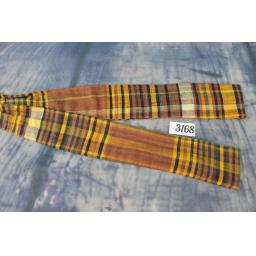 Vintage Hand Tailored Howard Brunn Self Tie Adjustable Straight End Skinny Bow Tie Tartan Plaid