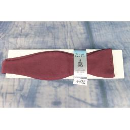 Vintage 100% Silk Self Tie Straight End Thistle Bow Tie Maroon New Deadstock