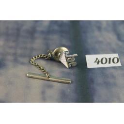 Vintage Silver Metal Tie Pin Spells Joe
