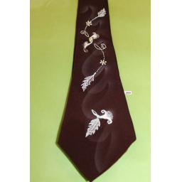 "Vintage 1940s/50s Penneys Towncraft Tie 3.5"" Wide Hand Painted Lindyhop/Swing/Zoot"