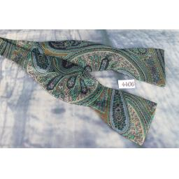 Superb Vintage Ferrell Reed Paisley Self Tie Straight End Thistle Bow Tie