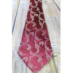 "Superb Vintage 1940s/1950s Burgundy Pattern Tie 4.25"" Wide Lindyhop/Swing Zoot Suit Rat Pack"