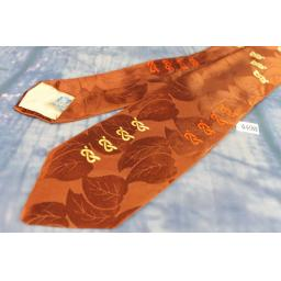 """Vintage Resilient Construction Royal Dragoon Guard Brown Jacquard Tie 3.5"""" Wide"""