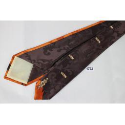 1950s Donegal Jacquard Brown & Burnt Orange Tie Excellent Quality Classic Design Tie