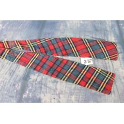 Vintage Rh Stearns English Self Tie Adjustable Straight End Bow Tie Tartan Plaid