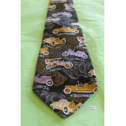 "Vintage Retro Tootal 1970's Vintage Cars Bentley Rolls Royce Ford Wide Kipper Tie 4.75"" Wide"