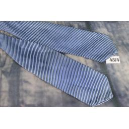 Superb Vintage Blue Pin Striped Striped Self Tie Arrow EndPaddle Bow Tie