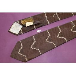 "Superb Wilkinsons All Silk Hand Made Vintage 1950s Brown Tie 3"" Wide"