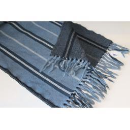 Vintage Airforce Bluey/Grey Striped Fringed Scarf