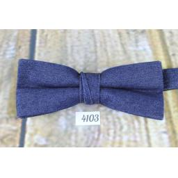 Vintage Fabulous Blue Denim Pre-tied Adjustable Bow Tie