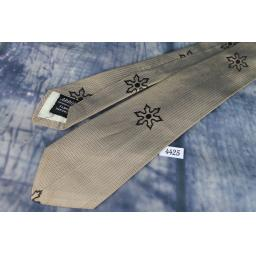 Vintage 1950s Arrow Pin Stripe Daisy Pattern Tie Narrow/Skinny Jim/Rat Pack/ Mod