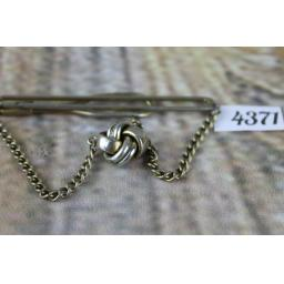 Vintage SWANK Tie Chain With Hanging Knot - Clip To Shirt Chain Hangs Over Tie