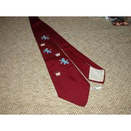 "Vintage 1940s/50s Hand Painted Vogue Tie 4"" Swing/Zoot Suit/Rat Pack"