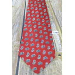 "Superb Vintage Arrow 1940s 1950s Tie 4.25"" Wide Rust Red Paisley Lindyhop/Swing/Zoot Suit/Rat Pack"