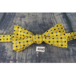 Superb Stafford Blue & Yellow Polka Dot Pre-Tied Bow Tie Adjustable to Fit All Collar Sizes