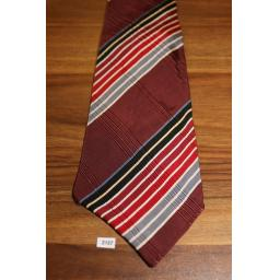 "Superb Vintage 1940s/50s Beau Brummel Strouses Kansas Striped Tie 3.25"" Wide"