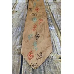 "Superb Vintage 1940s/1950s Arrow Tie Peach Jacquard 4.25"" Wide Lindyhop/Swing"